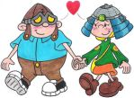 Hoagie and Fanny Strolling by nintendomaximus