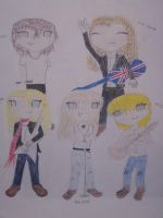 Def Leppard Hysteria Chibis by Terra-of-the-Forest