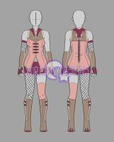 Clothing Adopt Auction: Female Outfit 18 (CLOSED) by xDreamyDesigns