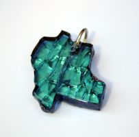 Blue Stained Glass Pendant by LadySiubhan