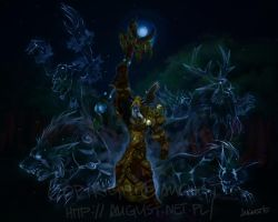 .Night Elf Druid. by AugustAnna