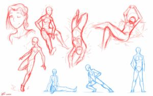 female poses study  by XaldinRamdzan
