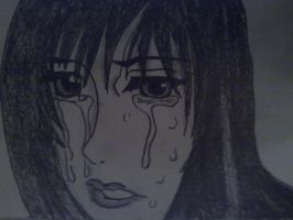 Reika Crying, from gantz by A-Nameless-Wolf