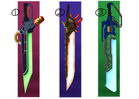 Energy Swords 1 (closed) by Solidified-Light