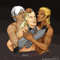 Zevran, Fenris, T: Complicated by Aroihkin