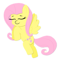 -Paper Fluttershy- giggling in the air by chibi95