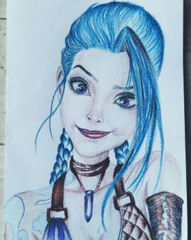 Jinx from League of Legends  by Aknebaz