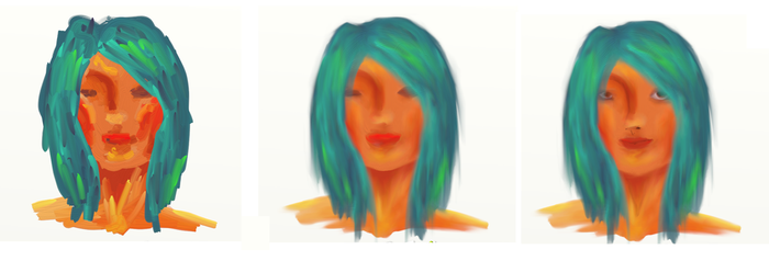 Blue Haired Girl - Process by yuzikiXD