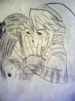 Link and Zelda by KaitCobain