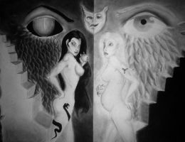 Lilith Vs. Eve by twisteddreaming