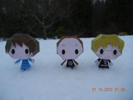 The Runaway Guys.. In Papercraft Form! by PuellaMagiKazumi