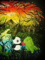 Dino and Panda Sunrise Sunset by MelodicInterval