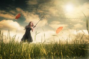 Umbrella Meadow by moijra