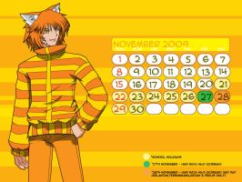 Calendar 2009 - November by MaxkofValiant