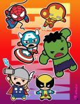 Marvel  (chibi) Super Heroes by aerlixir