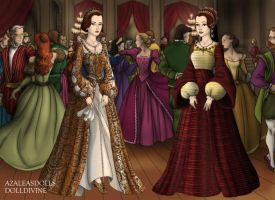 Mary and Margaret Tudor by MoonMaiden37