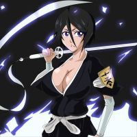 Bleach rukia cool new sexy look by greengiant2012