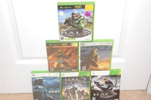 All my Halo Games by jking95