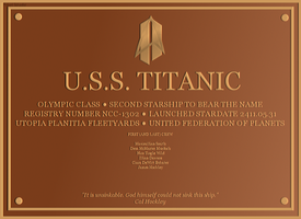 USS Titanic - Plaque by GregHouse1990