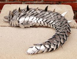 Short Aluminum Tail with Spikes by DracoLoricatus