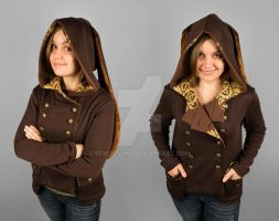 Steampunk Military Hoodie with Rabbit Ears by SewDesuNe