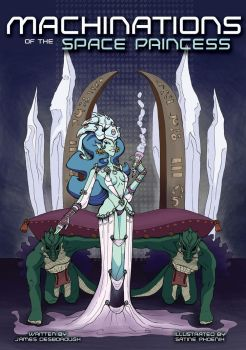 Cover to Machinations of the Space Princess by GRIMACHU