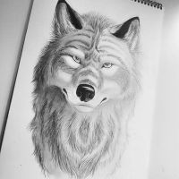 Pencil Wolf by Thealess