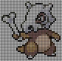 Cubone X Stitch Pattern by puppyrock3