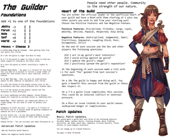 Persona Sheet Prototype - The Guilder by Thrythlind