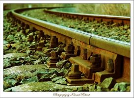 The old railway track by zozzy1980