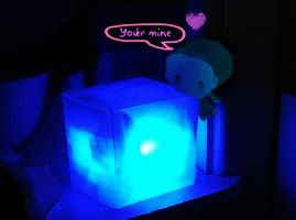 Cute Loki with his Tesseract by Erkillers