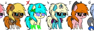 Chibi pony adopts 2. OPEN by Ilovetoreadbooks