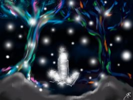 Quick Paint: Inside Fae Cave by Opal-Heart126