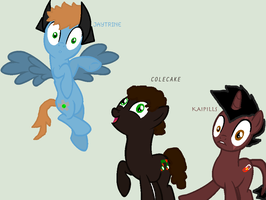 Elements of Insanity:Jaytrine,Colecake and Kaipill by FlyerStorm
