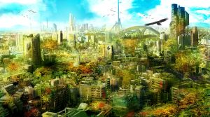 Post apocalyptic city colour variation by matty17art