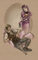 Fanart - Haymitch and Effie by fictograph