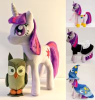 Twilight Sparkle plush with 3 outfits!!! by CosmicCrafts