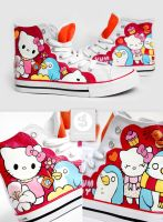 Kitty and Penguin Shoes by Bobsmade