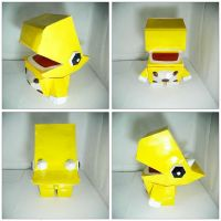 The Yellow Dino Papercraft! by ryanbhuled