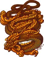 Lung Dragon by rachaelm5 by carol-colors