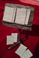 Miniature Music Stand by kamiiyu