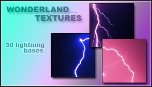 30 Lightning Texture Bases by Foxxie-Chan