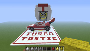 Turbo Invades Minecraft by kaygirl101