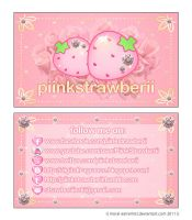 piinkstrawberii business card by moral-extremist