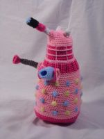 My Little Dalek- Pinkie Pie by Country-Geek-Crochet