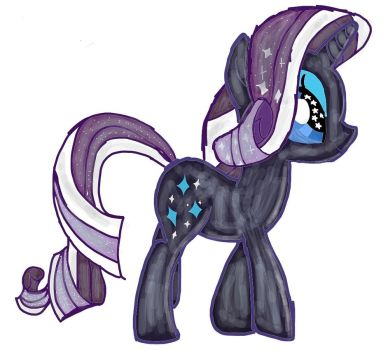 Re-Upload: Nightmare Rarity by SkyCloudArtist11