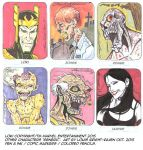 Sketchcards October 2015 Set 6 by Bright-Raven