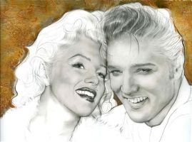 Elvis and Marilyn Legends by HeidiBenz