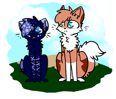 FadedHeart and SnowPelt by Hello-Its-A-Snail