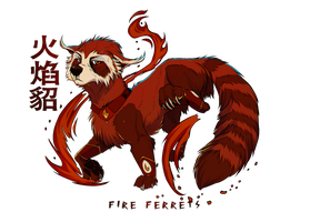Fire Ferret by AgentWhiteHawk